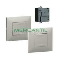 Pack Preconfigurado Encendido Conmutado con Micromodulo Netatmo Valena Next LEGRAND - Color Aluminio
