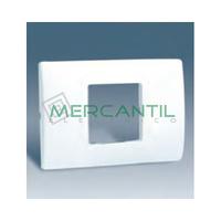 Placa Caja Americana con Bastidor para 1 Modulo Ancho o 2 Estrechos SIMON 27