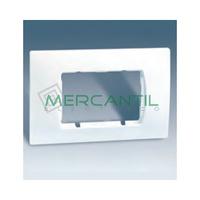 Placa Caja Americana con Bastidor para 2 Modulos Anchos o 4 Estrechos SIMON 27