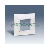 Placa Monobloc Caja Universal sin Garras y con Bastidor para 1 Modulo Ancho o 2 Estrechos con Pieza Intermedia SIMON 27