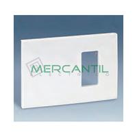 Placa para Caja Universal con Bastidor Desplazado 123x85mm SIMON 27 Play - 1 Elemento Estrecho