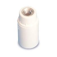 Portalamparas baquelita liso E14 blanco GSC