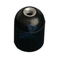 Portalamparas baquelita liso E27 negro GSC