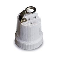 Portalamparas ceramico E27 reforzado blanco GSC