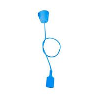 Portalamparas colgante E27 silicona azul GSC - 1 metro