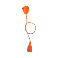 Portalamparas colgante E27 silicona naranja GSC - 1 metro
