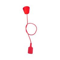 Portalamparas colgante E27 silicona rojo GSC - 1 metro