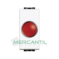 Portalamparas con Difusor 1 Modulo Living Light BTICINO - Color Rojo