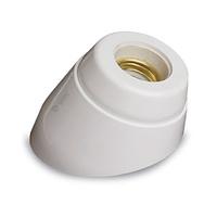 Portalamparas superficie E27 zocalo curvo de resina urea con porcelana blanco GSC
