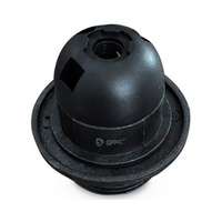 Portalamparas termoplastico E27 con arandela negro GSC