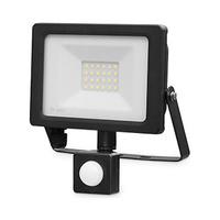 Proyector LED 20W con sensor negro IP65 GSC