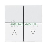 Pulsador Doble para Persianas 2 Modulos Zenit NIESSEN - Color Blanco