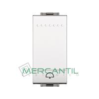 Pulsador Iluminable 1 Modulo Living Light BTICINO - Simbolo Campana