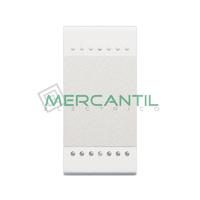 Pulsador Iluminable Basculante 1 Modulo Living Light BTICINO - Embornamiento Tornillo