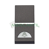 Pulsador Iluminable con Simbolo Timbre 1 Modulo Zenit NIESSEN - Color Antracita