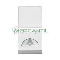 Pulsador Iluminable con Simbolo Timbre 1 Modulo Zenit NIESSEN - Color Blanco