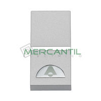 Pulsador Iluminable con Simbolo Timbre 1 Modulo Zenit NIESSEN - Color Plata