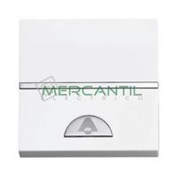 Pulsador Iluminable con Simbolo Timbre 2 Modulos Zenit NIESSEN - Color Blanco