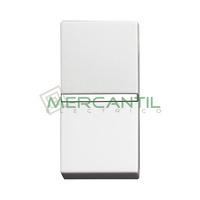 Pulsador Iluminable sin Grabar 1 Modulo Zenit NIESSEN - Color Blanco