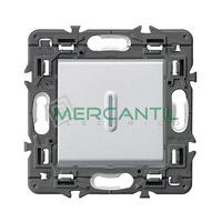 Pulsador Inversor Iluminable con Simbolo Campana 6A Valena Next LEGRAND - Color Aluminio