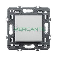 Pulsador Inversor con Simbolo Lampara 6A Valena Next LEGRAND - Color Aluminio