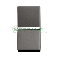 Pulsador NC sin Grabar 1 Modulo Zenit NIESSEN - Color Antracita