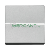 Pulsador NC sin Grabar 2 Modulos Zenit NIESSEN - Color Plata