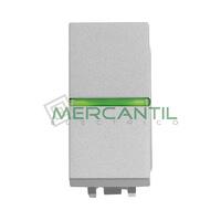 Pulsador con Lampara LED Incorporada 1 Modulo Zenit NIESSEN - Color Plata