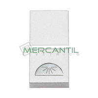 Pulsador con Simbolo Luz 1 Modulo Zenit NIESSEN - Color Blanco