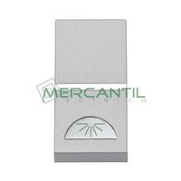 Pulsador con Simbolo Luz 1 Modulo Zenit NIESSEN - Color Plata