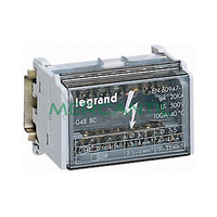 Repartidor Modular Monobloc Bipolar 2P 100A LEGRAND – 7 Conexiones