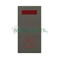 Señalizador con Difusor Rojo LED No Molestar 1 Modulo Zenit NIESSEN - Color Antracita