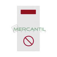 Señalizador con Difusor Rojo LED No Molestar 1 Modulo Zenit NIESSEN - Color Blanco