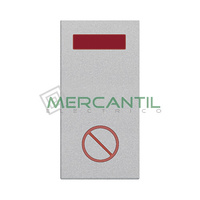 Señalizador con Difusor Rojo LED No Molestar 1 Modulo Zenit NIESSEN - Color Plata