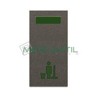 Señalizador con Difusor Verde LED No Molestar 1 Modulo Zenit NIESSEN - Color Antracita