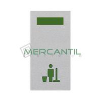 Señalizador con Difusor Verde LED No Molestar 1 Modulo Zenit NIESSEN - Color Plata