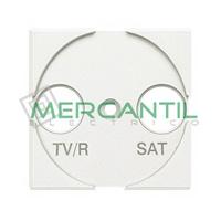 Tapa Adaptador con Serigrafia TV-R 2 Modulos Axolute BTICINO