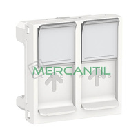 Tapa de Recambio para Base Doble RJ45 S-One 2 Modulos New Unica SCHNEIDER ELECTRIC