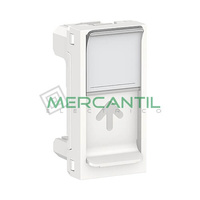 Tapa de Recambio para Base RJ45 S-One 1 Modulo New Unica SCHNEIDER ELECTRIC