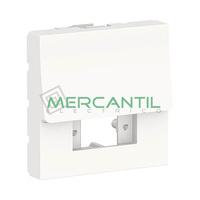 Tapa de Recambio para Fibra Optica 2 Modulos New Unica 10ud SCHNEIDER ELECTRIC