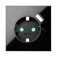 Tapa para Base de Enchufe con Cargador USB SIMON 100 - Color Negro mate
