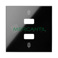 Tapa para Cargador Doble USB SIMON 100 - Color Negro mate