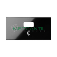 Tapa para Cargador USB SIMON 100 - Color Negro mate