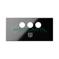 Tapa para Conector 3RCA SIMON 100 - Color Negro