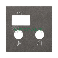 Tapa para Modulo de USB y Bluetooth 2 Modulos Zenit NIESSEN - Color Antracita