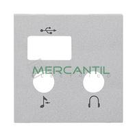 Tapa para Modulo de USB y Bluetooth 2 Modulos Zenit NIESSEN - Color Plata