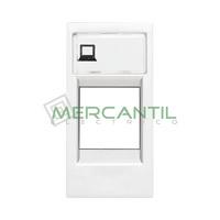 Tapa para Soporte Conectores Informaticos 1 Modulo Zenit NIESSEN - Color Blanco
