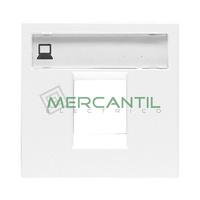 Tapa para Soporte Conectores Informaticos 2 Modulos Zenit NIESSEN - Color Blanco