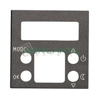 Tapa para Termostato Digital con Memoria No Volatil 2 Modulos Zenit NIESSEN - Color Antracita
