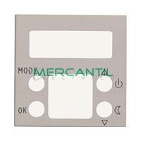 Tapa para Termostato Digital con Memoria No Volatil 2 Modulos Zenit NIESSEN - Color Plata